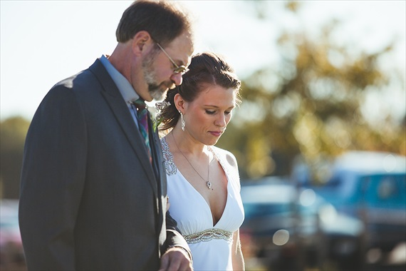 Matthew Steed Wilson Photography - father walking bride down the aisle - scrabble themed wedding