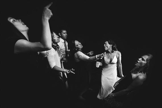 Matthew Steed Wilson Photography - black and white reception photo