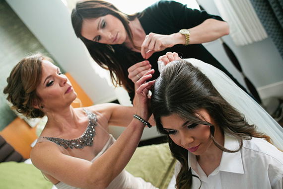 Tate Tullier Photography - Baton Rouge Wedding - bride-getting-veil-attached