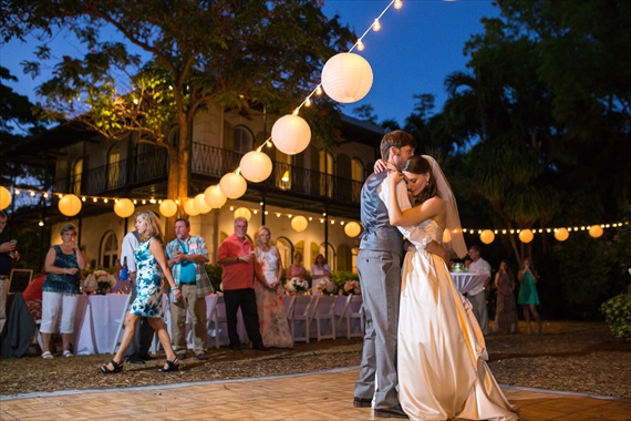 Filda Konec Photography - bride and groom dance at the hemingway home in key west