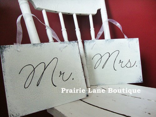 Mr & Mrs Wedding Signs