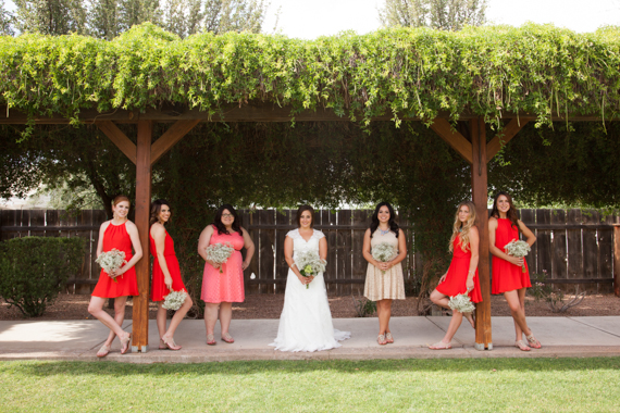 rustic chic DIY arizona wedding at Shenandoah Mill bride, bridesmaids photo