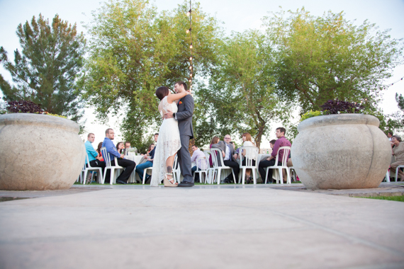 rustic chic DIY arizona wedding at Shenandoah Mill bride and groom dance