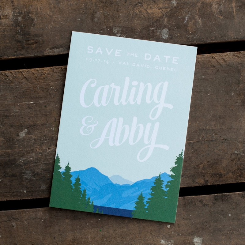 Save the Date Postcard Mountain Wedding | Save the Date Postcards