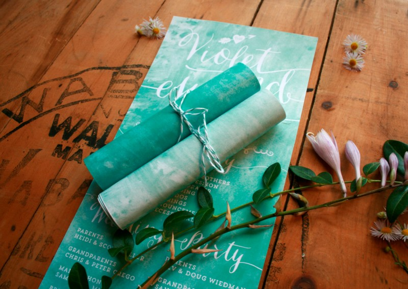 scroll wedding programs rolled ceremony program