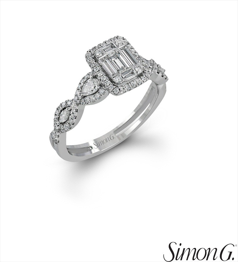 Geometric Halo Diamond Right-Hand Ring | Latest Spring Jewelry Trends | http://emmalinebride.com/jewelry/latest-spring-jewelry-trends/