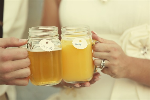 Drozian Photoworks - mason jar wedding mugs