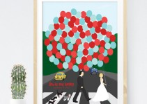 The Beatles Wedding Themed Guest Book Alternative Print
