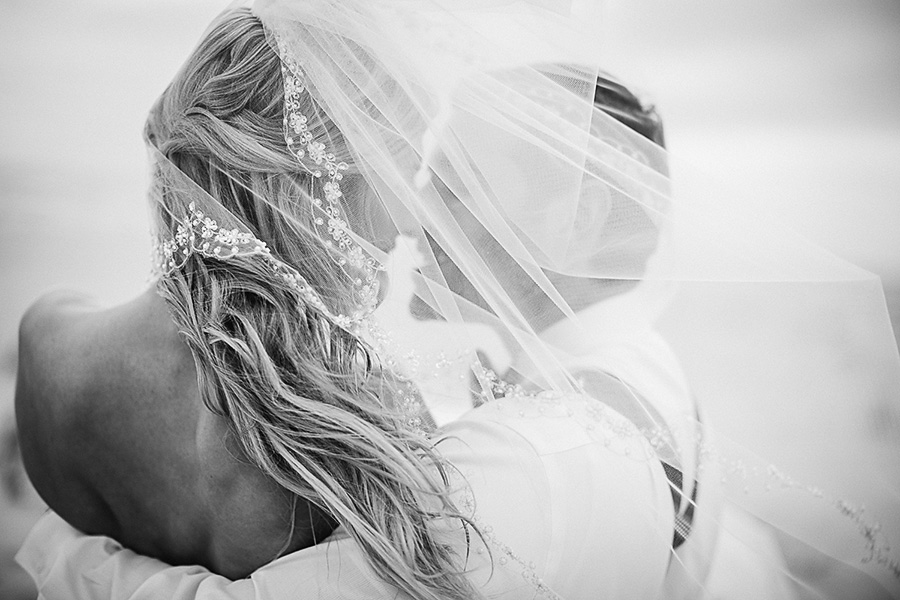 The Bride and Groom - Portraits - Bald Head Island Wedding - Photo by Eric Boneske