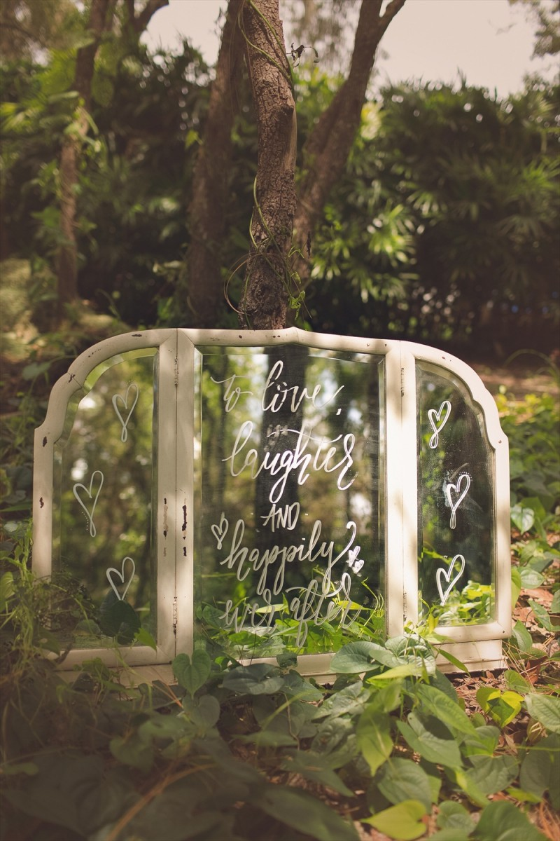 To Love Laughter and Happily Ever After Sign   Rustic Glam Bridal Shower   styled: adore amor event planning, photo: little blue bird photography   http://emmalinebride.com/shower/rustic-glam-bridal-shower/