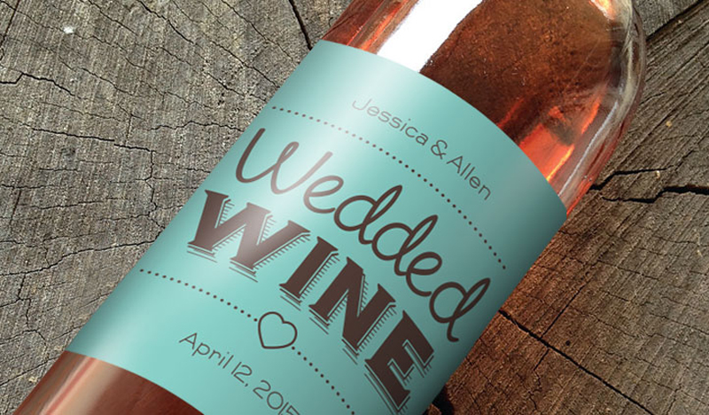 we love these wedding wine labels, which offer tons of customization options.  there are even templates in case you have no design skill.  by stickeryou.com via emmalinebride.com