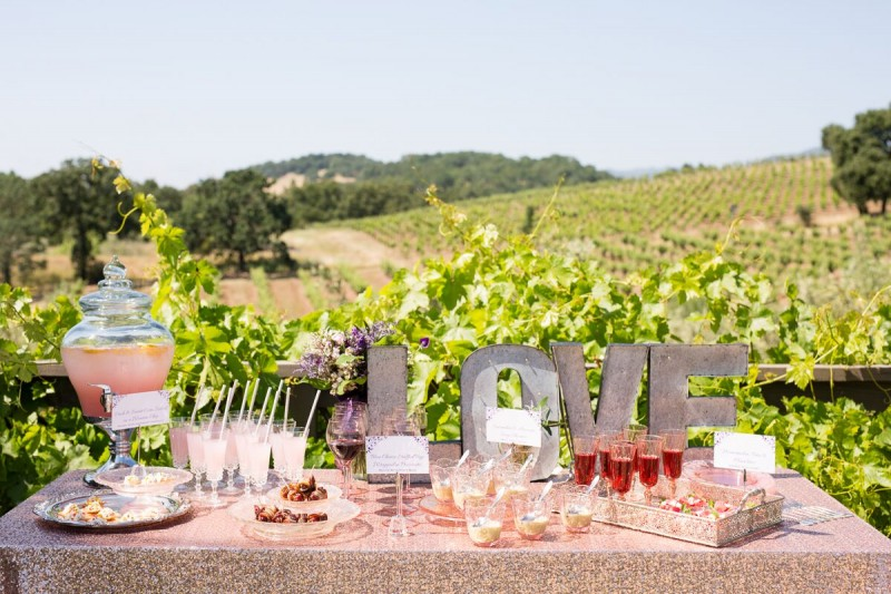 Winery Style Wedding Shoot - Dessert and Drinks (photo: olivia smartt) http://emmalinebride.com/themes/winery-style-wedding/