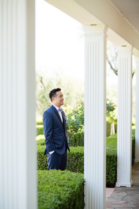 Winery Styled Wedding Shoot - Groom waiting for the Bride