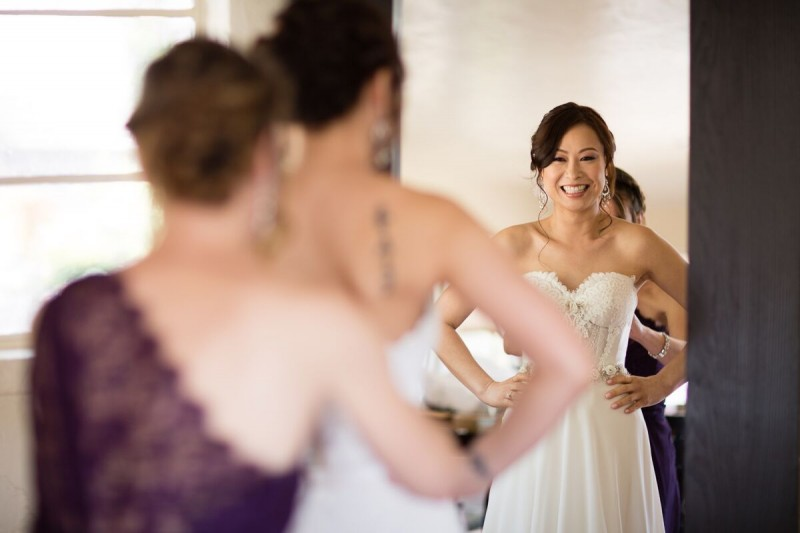 Winery Style Wedding Shoot - The Bride Getting Dressed (photo: olivia smartt) http://emmalinebride.com/themes/winery-style-wedding/