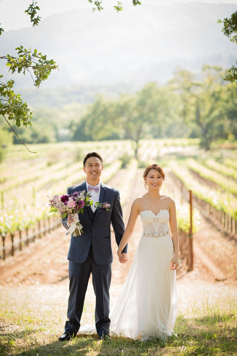 Winery Style Wedding Shoot - The Bride and Groom After Ceremony (photo: olivia smartt) http://emmalinebride.com/themes/winery-style-wedding/