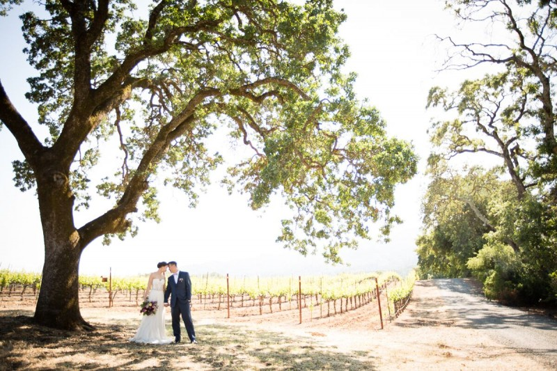 Winery Style Wedding Shoot - The Bride and Groom at Winery (photo: olivia smartt) http://emmalinebride.com/themes/winery-style-wedding/