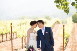 Winery Styled Wedding Shoot - The Bride and Groom in Winery