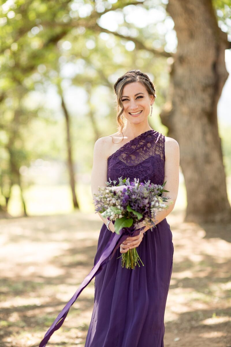 Winery Style Wedding Shoot - The Maid of Honor in Purple Dress (photo: olivia smartt) http://emmalinebride.com/themes/winery-style-wedding/