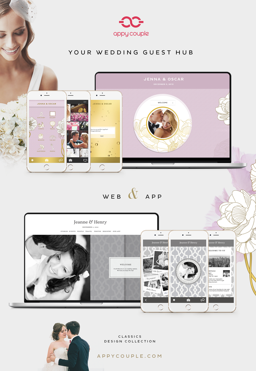 appy couple - wedding website app