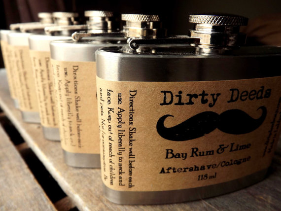 aftershave in a flask via 12 Manly, Unique Groomsmen Gift Ideas