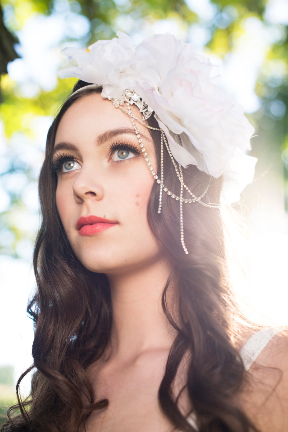 amanda floral crown gatsby inspired