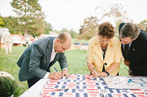 Americana wedding guest book quilt (photo: michelle gardella)