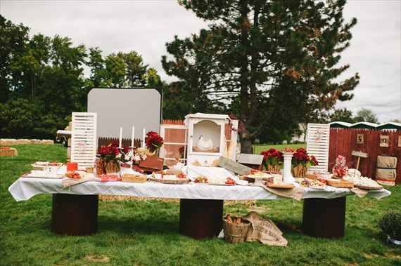 Americana Wedding: Libby + Ernie - appetizer bar (photo: michelle gardella)