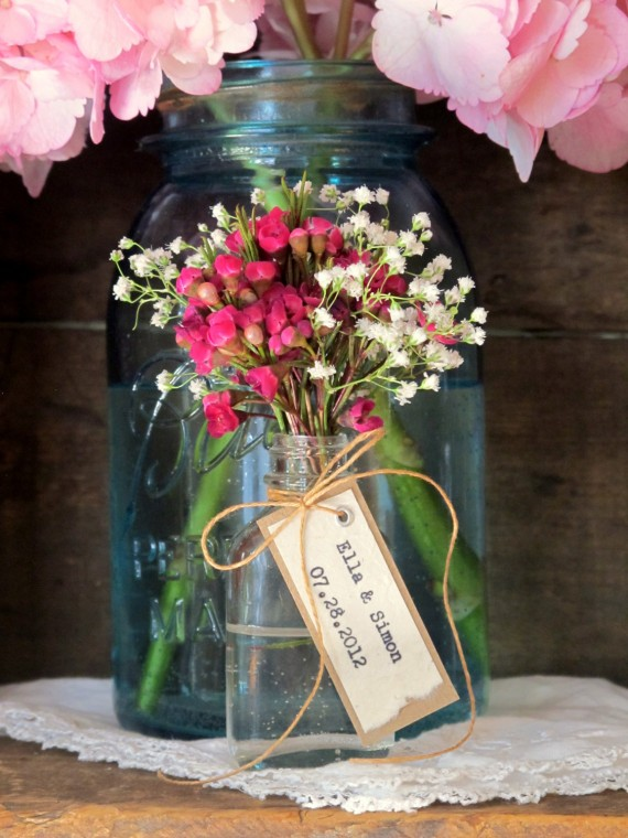 apothecary jar flower favors