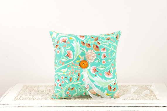 aqua-orange-ring-pillow