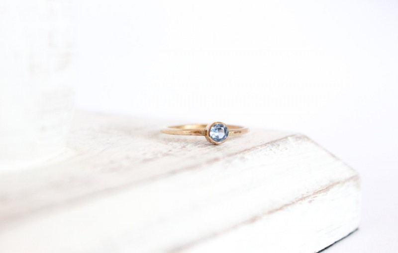 aquamarine and gold ring | via Best Aquamarine Jewelry Finds on Etsy - http://emmalinebride.com/bride/best-aquamarine-jewelry/