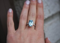 aquamarine engagement ring etsy
