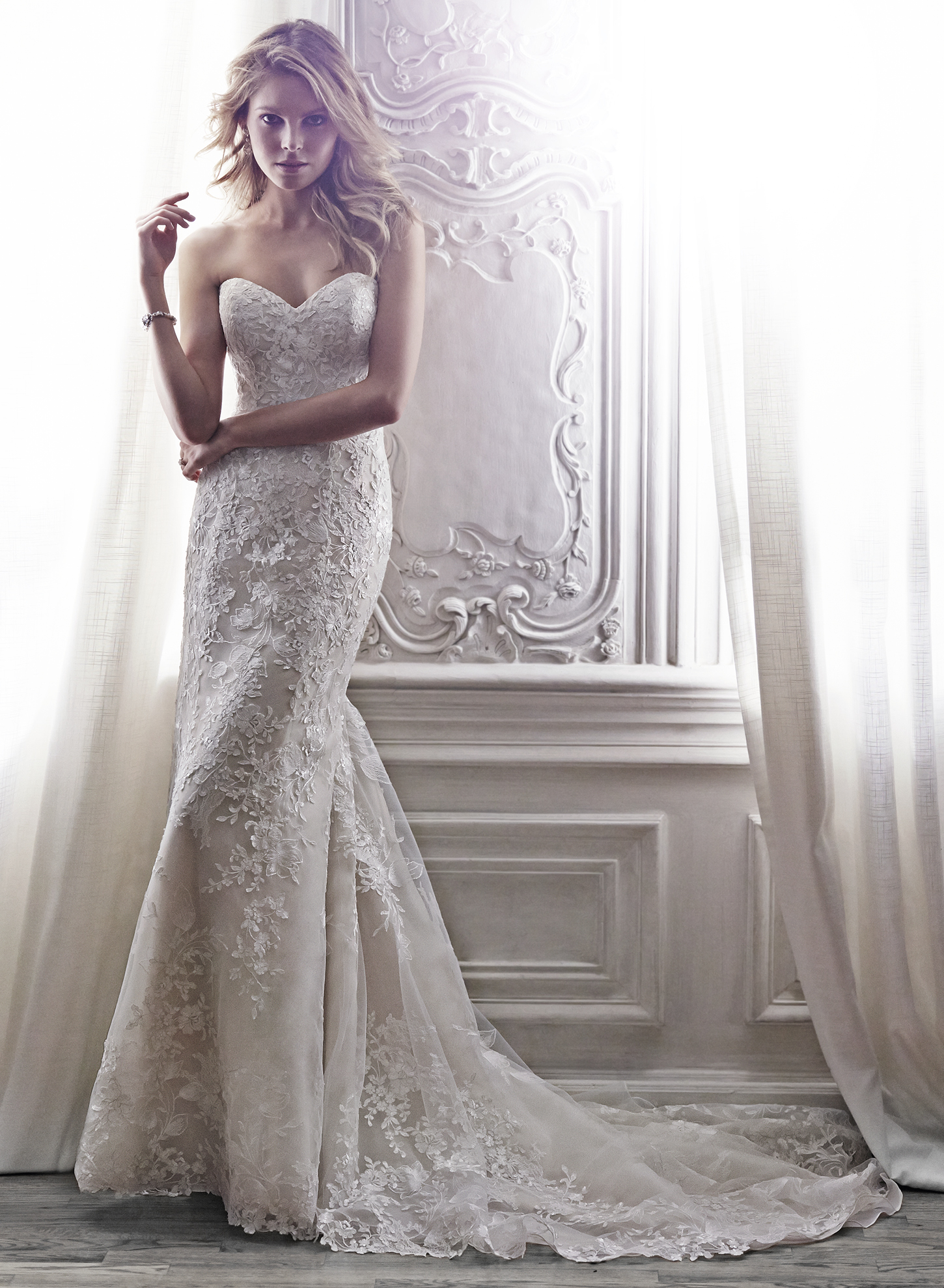 ARLYN | Sheath Wedding Dresses by Maggie Sottero | via EmmalineBride.com