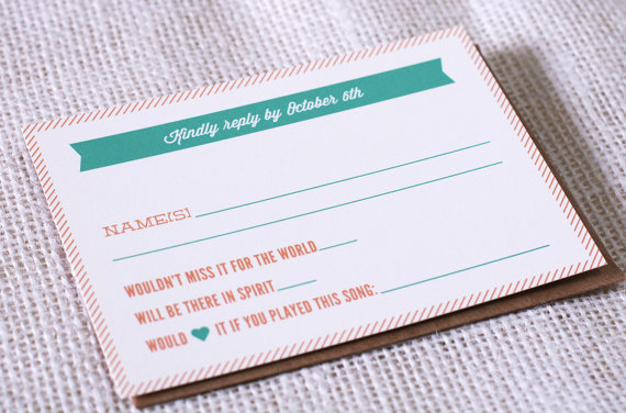 Asking Guests for Song Requests with Reply Card (reply card by bexcreativeco)