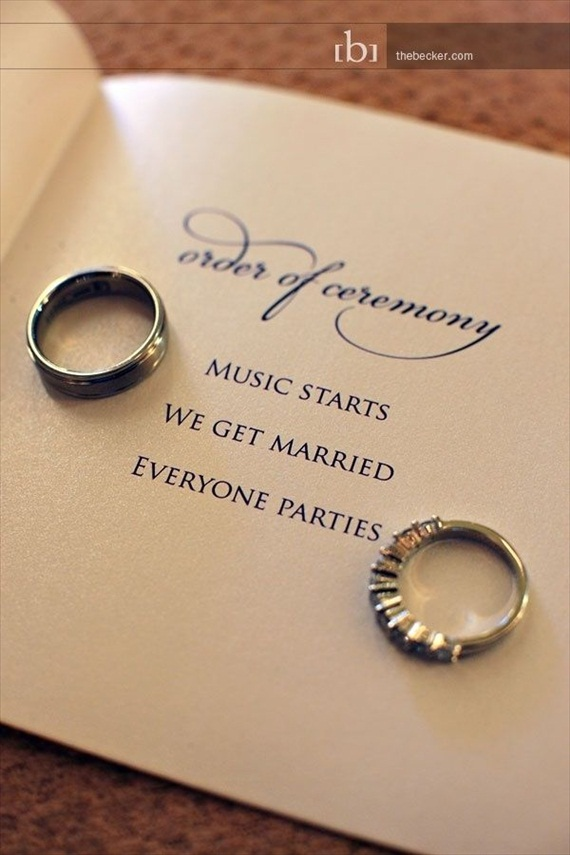 short wedding ceremony program