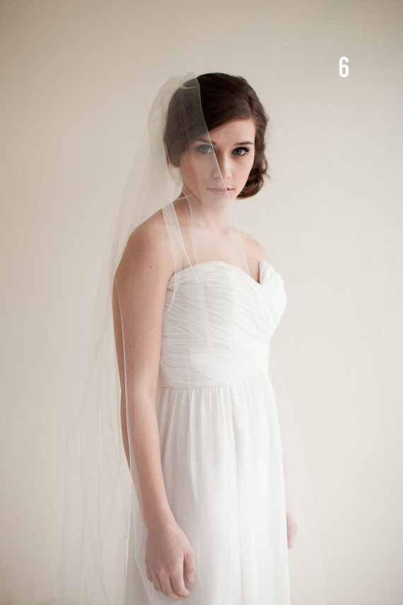Wedding Veil Styles: The Ultimate Guide (Part One) - ballet length veil by melinda rose design, photo by atlas and delia