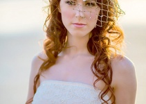beach wedding net veil