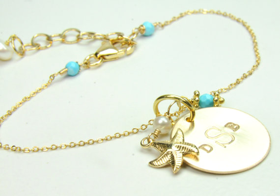 beach wedding starfish bracelet via Beach Wedding Jewelry Ideas for Bridesmaids