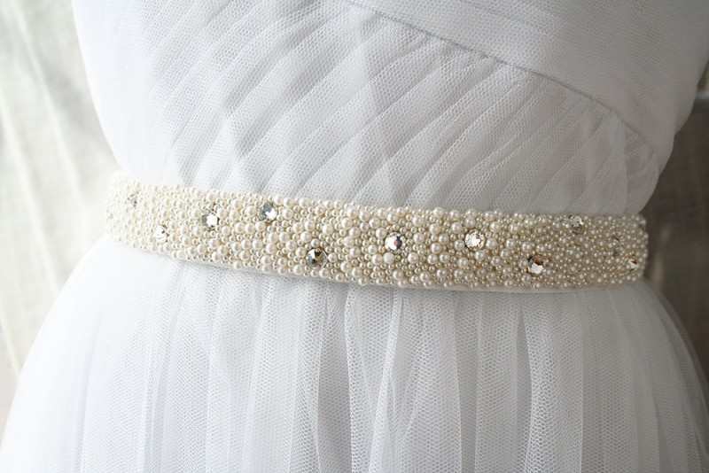 beads and crystals wedding dress sash | NEW Wedding Dress Sash Ideas via http://emmalinebride.com/bride/wedding-dress-sash-ideas/