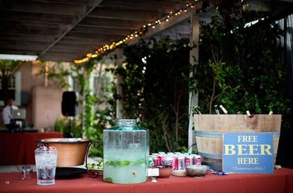 Wedding Drink Station Ideas - beer wedding drink station