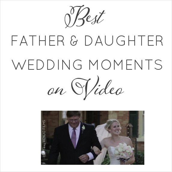 Best Father and Daughter Wedding Moments (VIDEO)   http://emmalinebride.com/planning/father-and-daughter-wedding-moments/