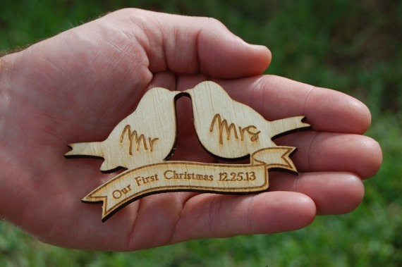 bird mr and mrs ornament by urbanfarmhousetampa