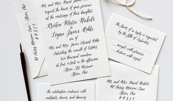 black-and-white-calligraphy-wedding-invitations