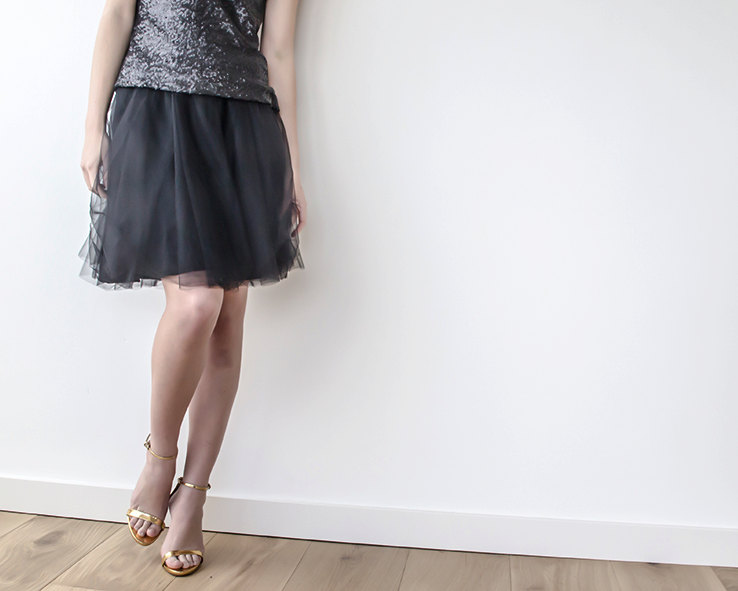 black bridesmaid skirt