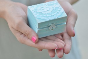 blue lace ring box