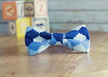 blue patterned bow ties