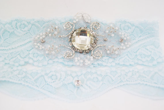 Gift for Bridesmaids - Blue Wedding Garter by Nestina Accessories