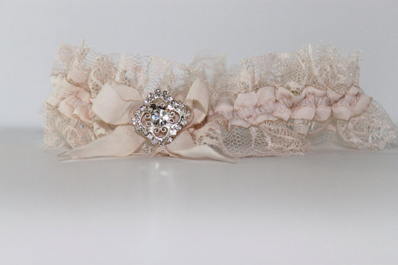blythe silk garter via 5 Shabby Chic Wedding Garters at EmmalineBride.com