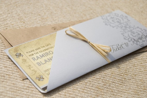 boarding pass - Destination Wedding Invitations