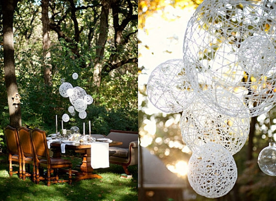 bohemian paper orbs via 9 Bohemian Wedding Ideas for your Free Spirited Side