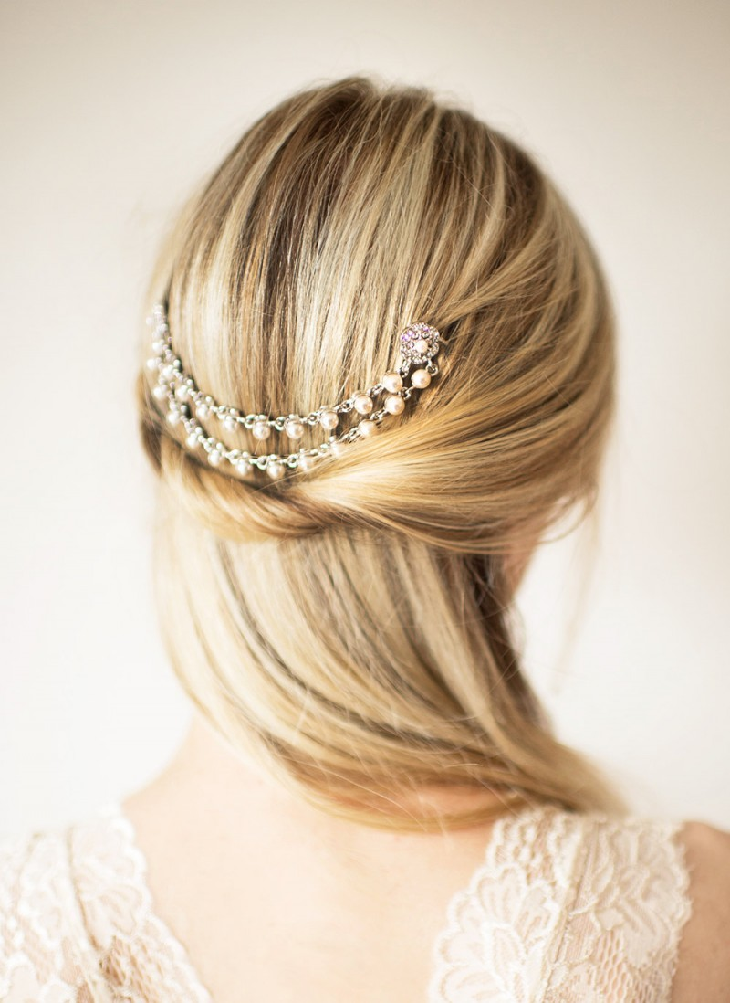 boho hair chain | bridal hair chain | via http://emmalinebride.com/bride/bridal-hair-chain/